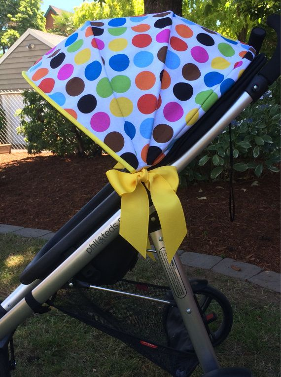 Stroller Canopy Stroller Cover Stroller Shade Stroller Sun Shade SimpleShade Stroll - Colorful Dots with Bright Yellow Trim : sun shade canopy for stroller - memphite.com