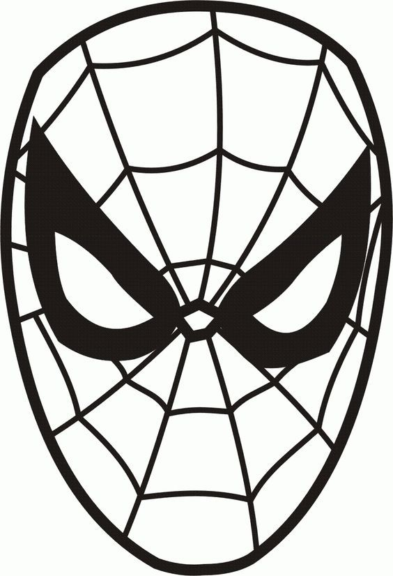 Kleurplaten Zwarte Spiderman.We4you2 Kleurplaten Van Gezichten Zelfkleuren Spider Man