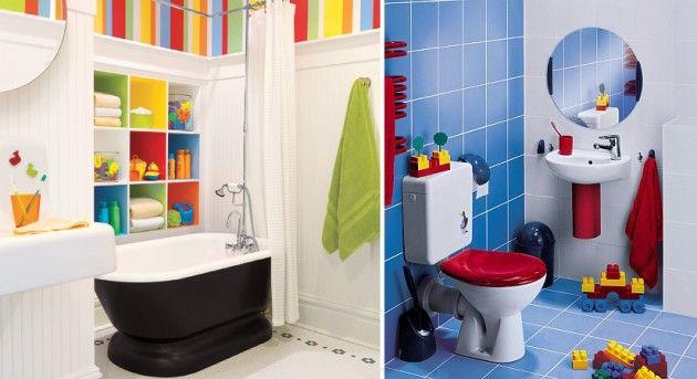 Banheiro infantil decorado  Banheiros, Como decorar um banheiro e Decorar um -> Decorar Banheiro Infantil