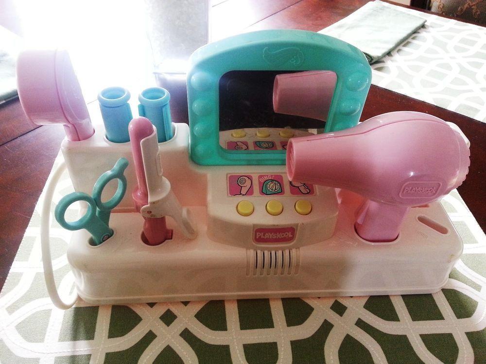 Playskool for Little Tikes Vintage Beauty Salon Accessories Kit HTF Playskool  90s Child