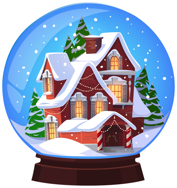 Christmas House Snowglobe Transparent Png Clip Art Image Christmas Snow Globes Christmas Art Snow Globes