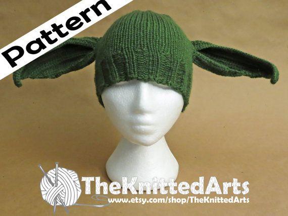 Kleinkind, 12 Monate - 3 Jahre, stricken PDF Hut Muster - Yoda Stil ...