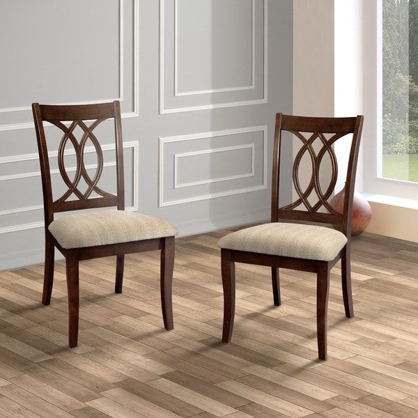 Furniture Of America Cerille Elegant Brown Cherry Dining Chairs Enchanting Cherry Dining Room Chairs Sale Inspiration Design