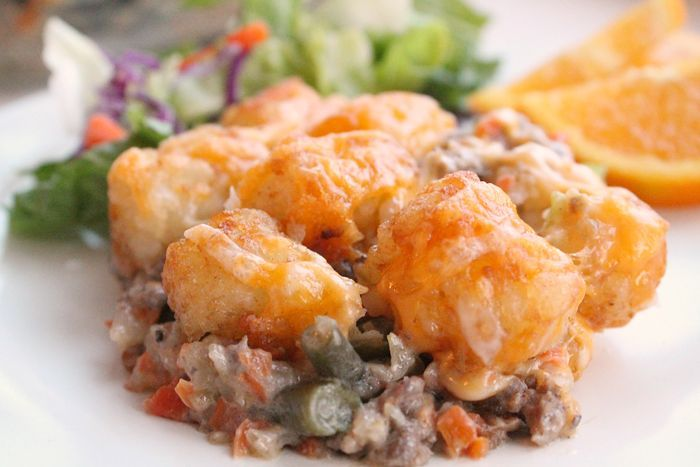 Photo of This really is the VERY BEST TATOR TOT CASSEROLE EVER! Packe…