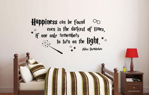 Charming Happiness Can Be Found Harry Potter Wall Decal Quote Albus Dumbledore  Available In 8 Different Sizes