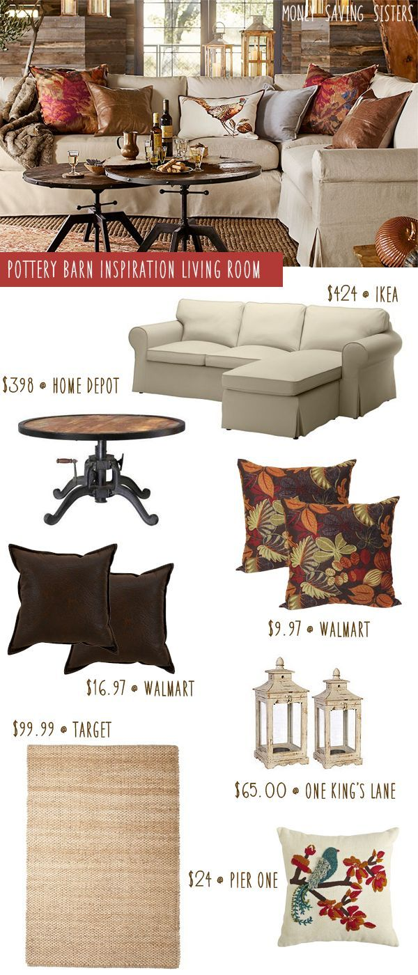 Pottery Barn Knockoff Fall Living Room On A Budget Fall Living