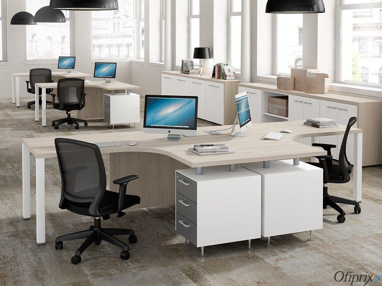 Mesas de Oficina en L - Meet   Mesa de oficina, Oficinas y ...
