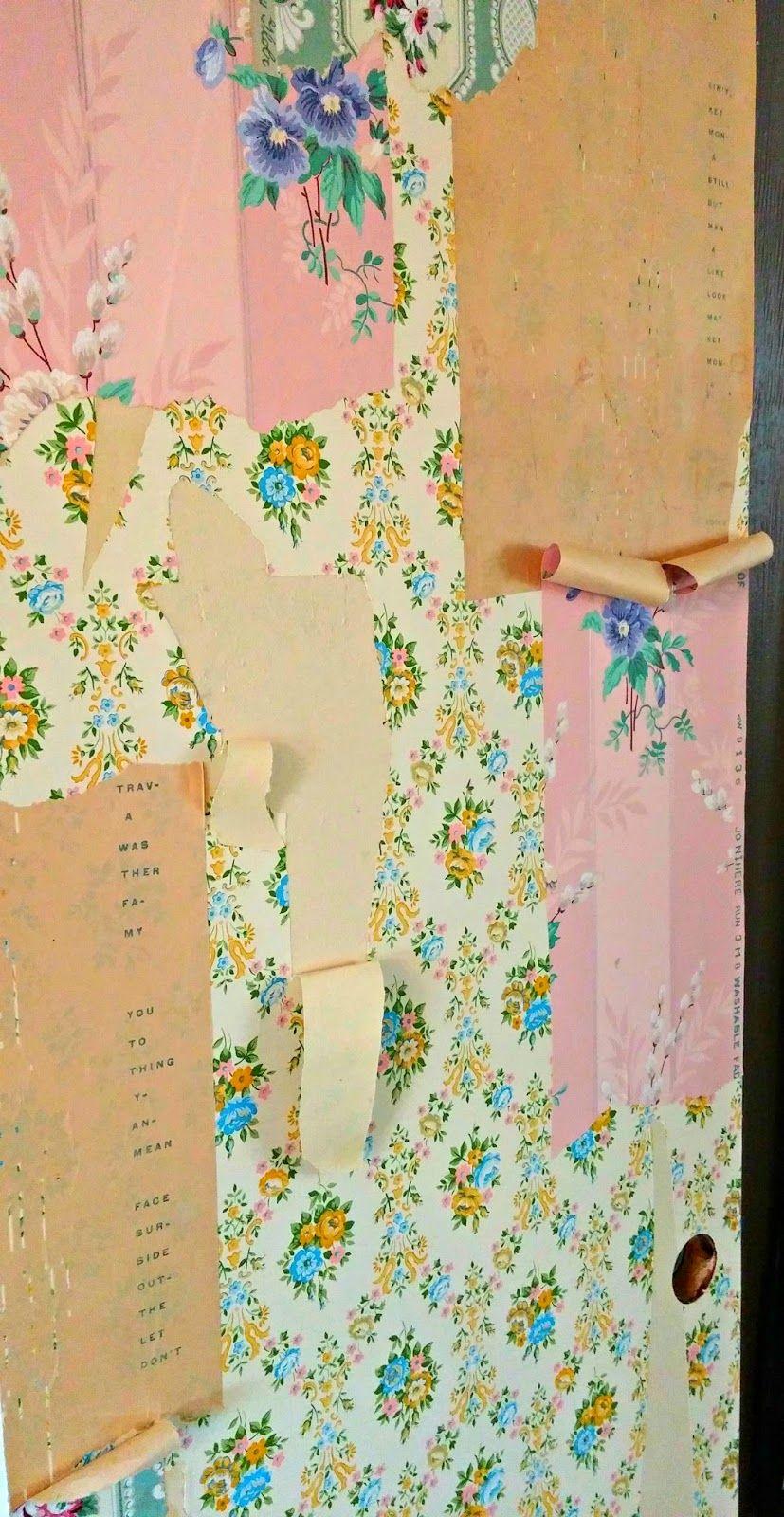 Diy Peeling Wallpaper Effect Peeling Wallpaper Old Wallpaper