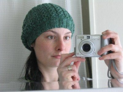 Faux cable, slouch hat. In progress.
