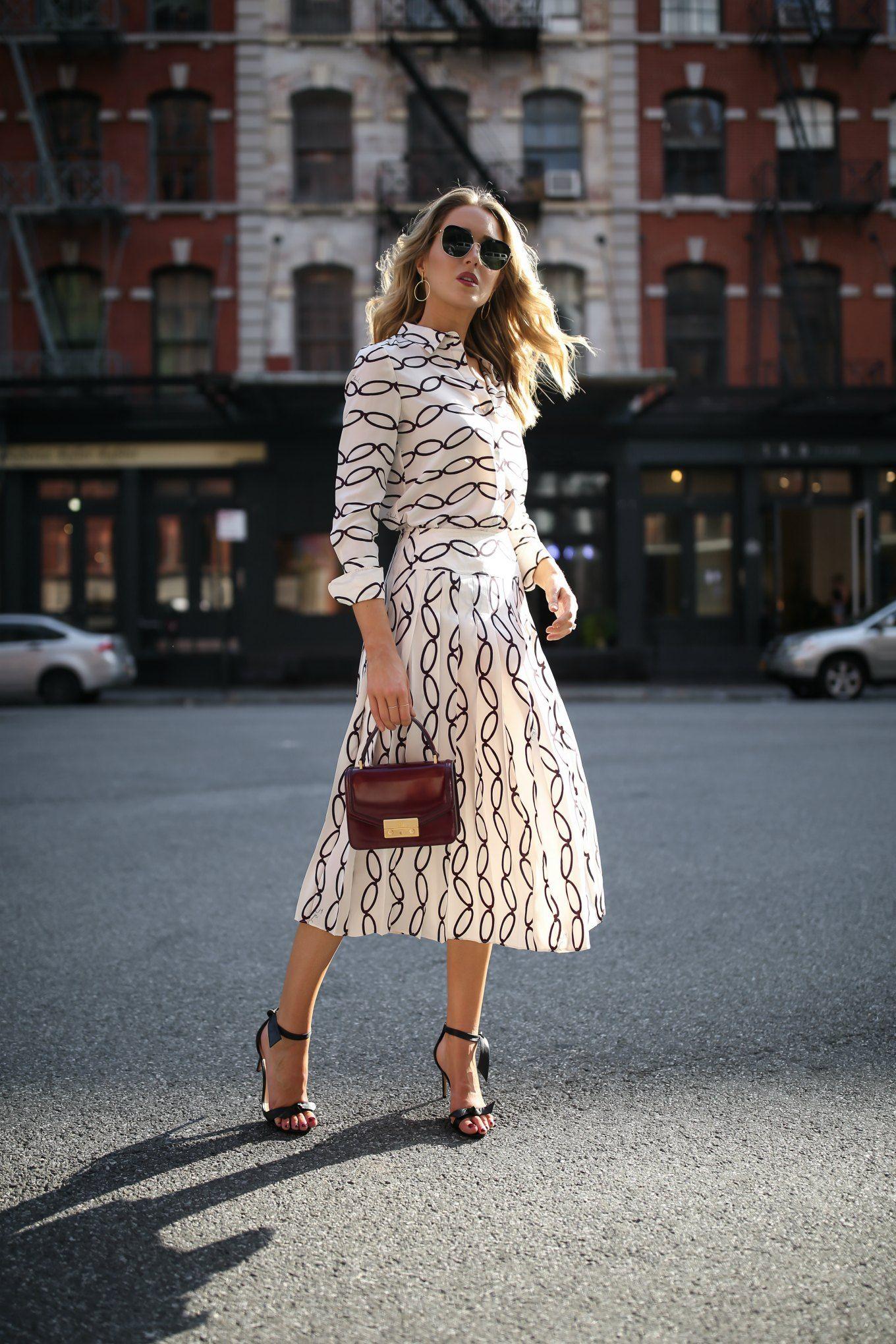 Burgundy Tory Burch Juliette Bag Black And White Pleated Midi Skirt