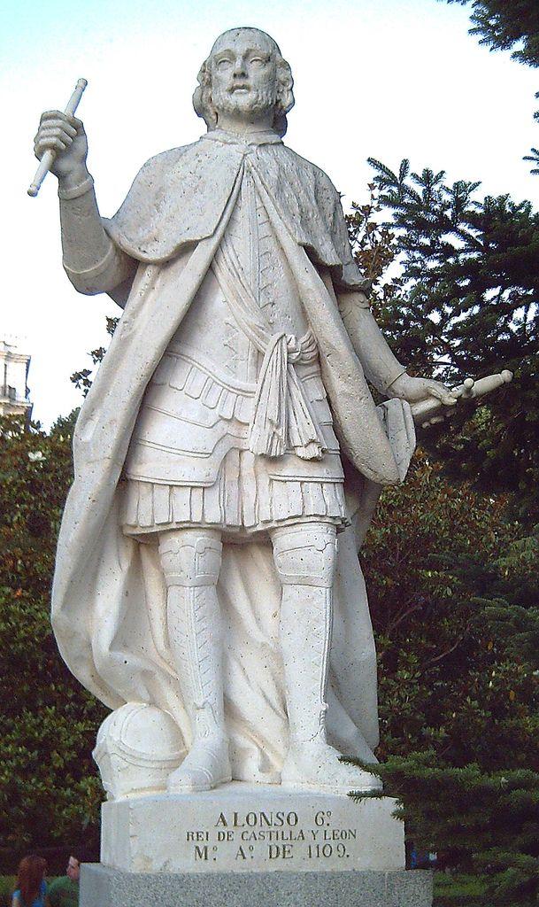 Estatua de alfonso vi de le n y castilla 1040 1109 en los jardines de sabatini de madrid - Esquelas leon los jardines ...