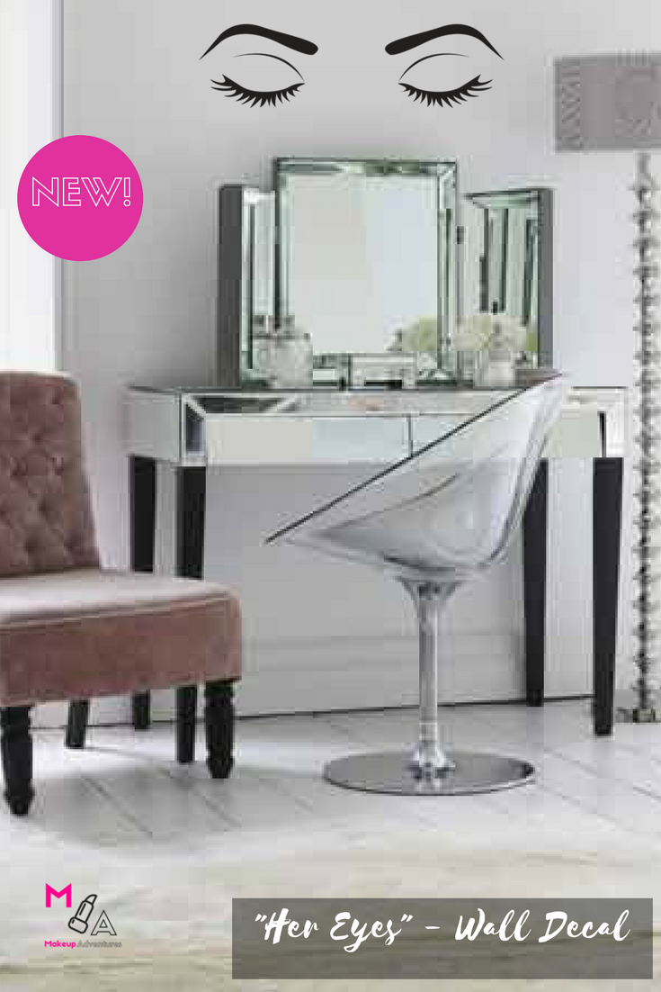 Check out our new vanity wall decal personalize your makeup space