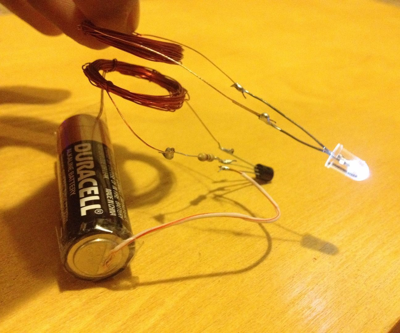 Wireless Electricity Transmission Circuit Electricity Electronics Circuit Simple Circuit