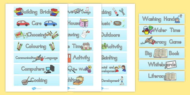 Visual Timetable Tray Labels for Kindergarten Class Management - class timetable
