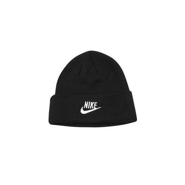 d89fe4dd4e856b Nike Iconic Beanie on sale ($11) ❤ liked on Polyvore featuring accessories,  hats, beanies, black, beanie hats, black beanie, nike, logo hats and black  hat