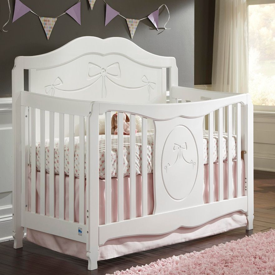 Storkcraft Princess 4-in-1 Convertible Crib | White baby ...