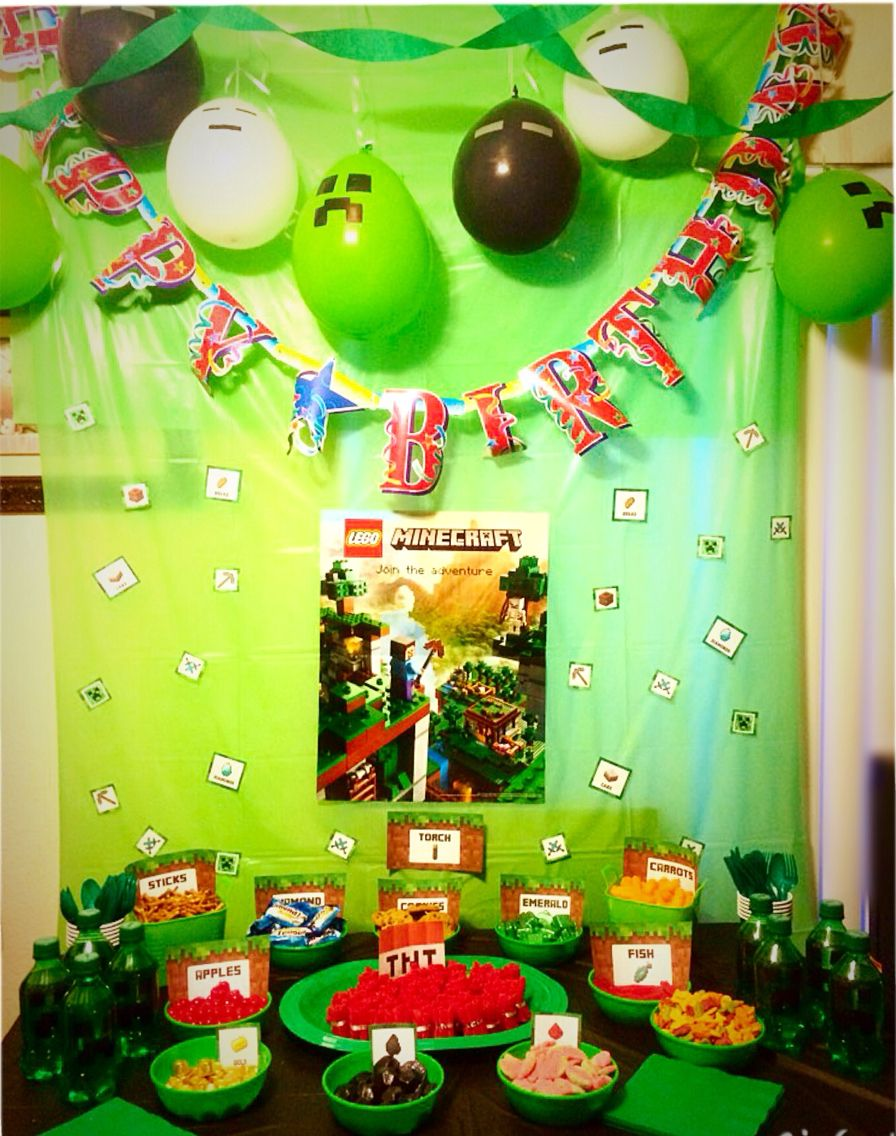DIY Minecraft BDAY