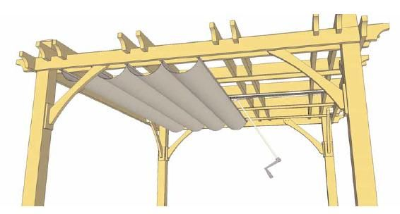 Pergola Retractable Canopy Kits | Diagram Of Retractable Canopy For 10u0027 X  12u0027 Pergola