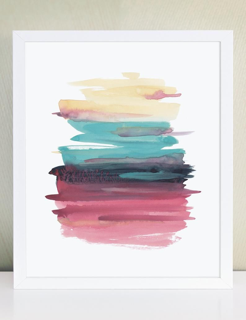 Pinterest Followers Save 10 On The Purchase Of This Item With Coupon Code Pin10off Valid 5 11 Minimalist Art Abstract Abstract Watercolor Art Etsy Art Prints