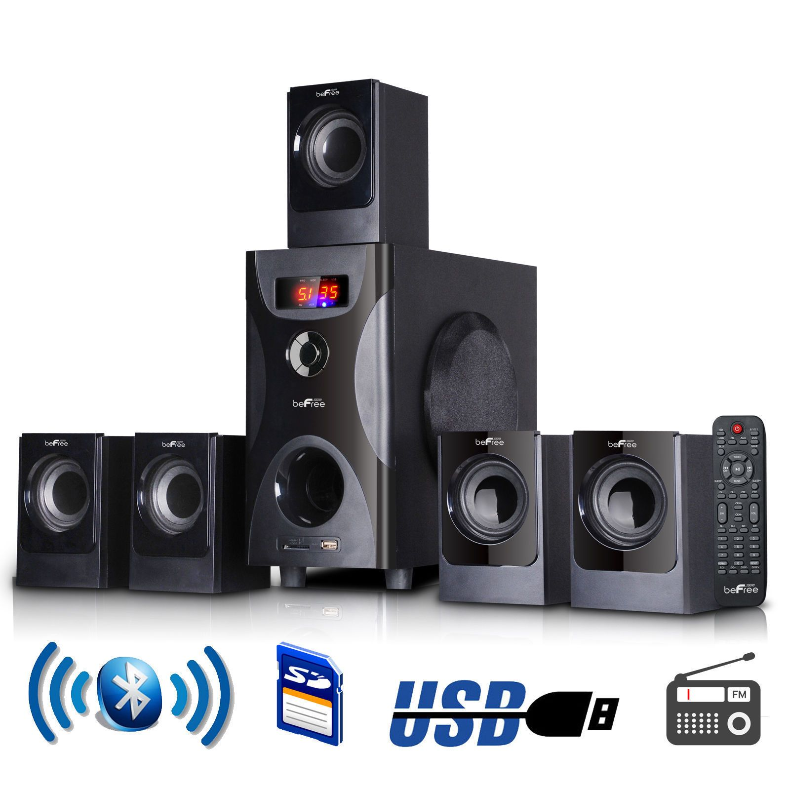 Home Theater Systems Befree Sound Bfs Channel Surround Sound