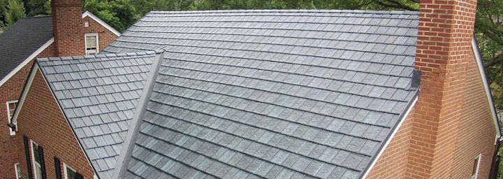 Arrowline Slate Metal Roofing In Ohio Pennsylvania Roofing Metal Roof Roofing Options