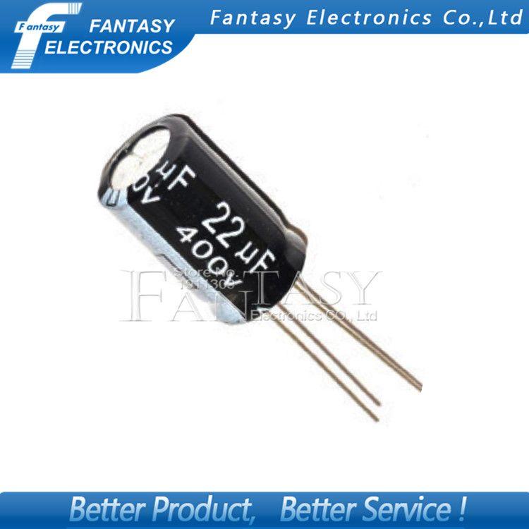 10pcs Higt Quality 400v22uf 13 20mm 22uf 400v 13 20 Electrolytic Capacitor