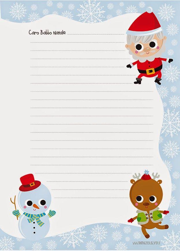 Mammager caro babbo natale scriviamo una lettera - Babbo natale da colorare fogli da colorare ...