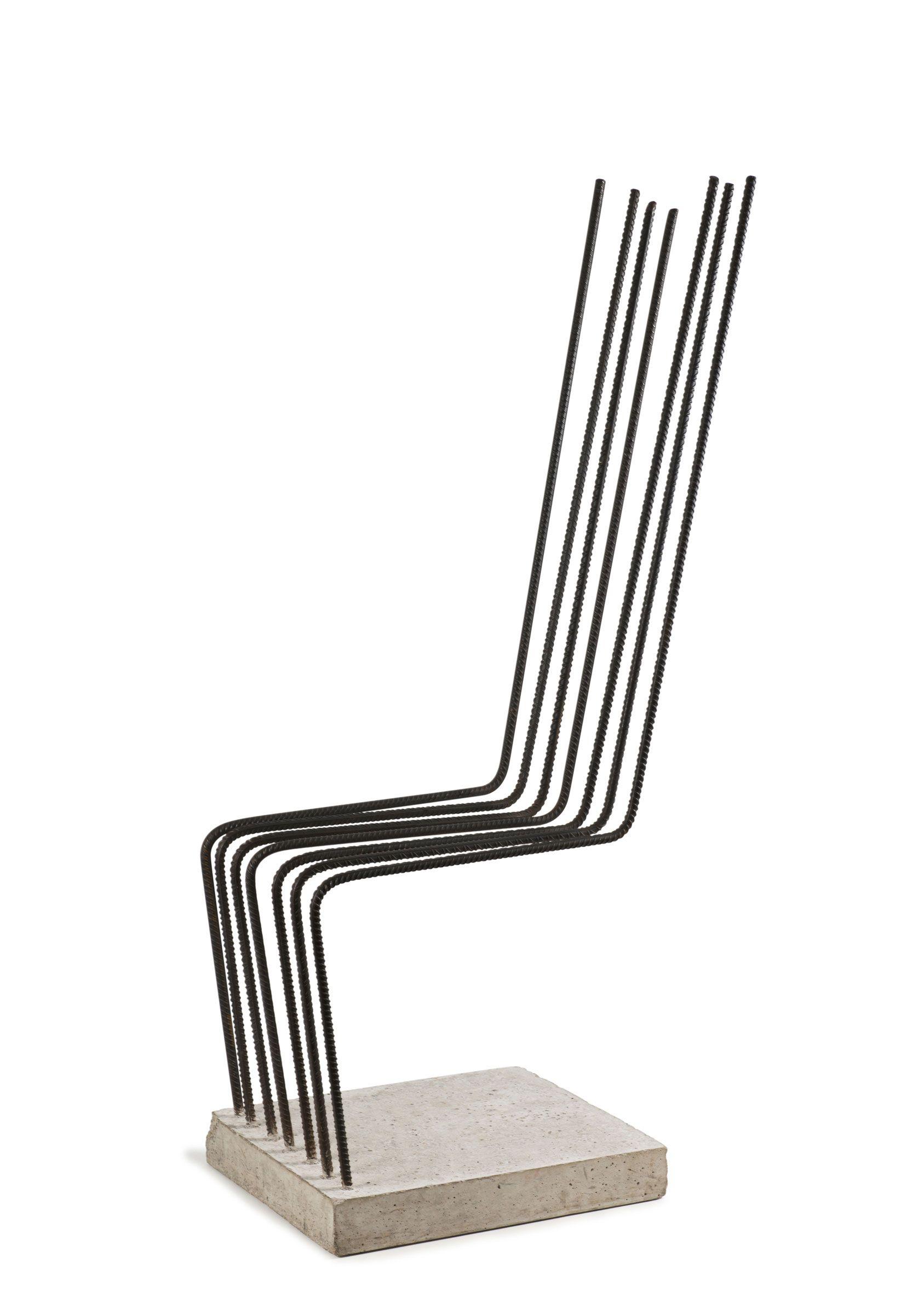 Molinari Tavoli E Sedie.Heinz H Landes Rebar And Concrete Solid Chair 1993