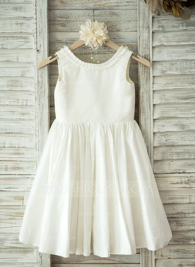 f9ff72308d11 US  58.19  A-Line Princess Knee-length Flower Girl Dress - Cotton ...