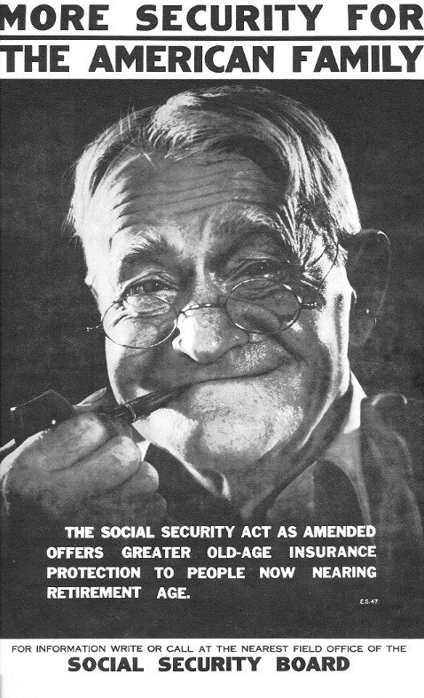 This poster announces the passage of the 1939 Social Security - social security request form