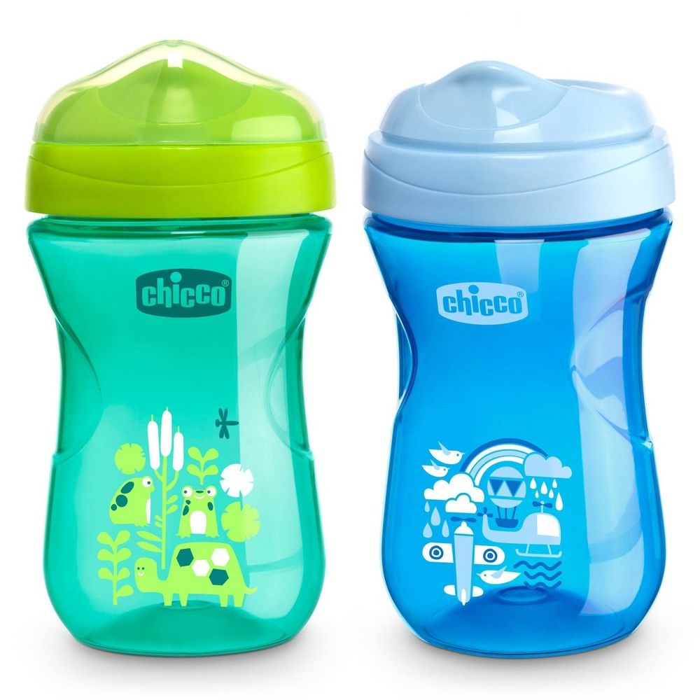 Chicco Rim Spout Trainer Sippy Cup 9m Blue Teal 2pk 9oz In 2020 Sippy Cup Chicco Sippy