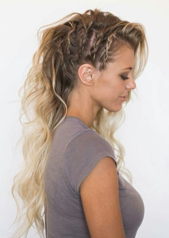 All Out Edgy #sidebraidhairstyles