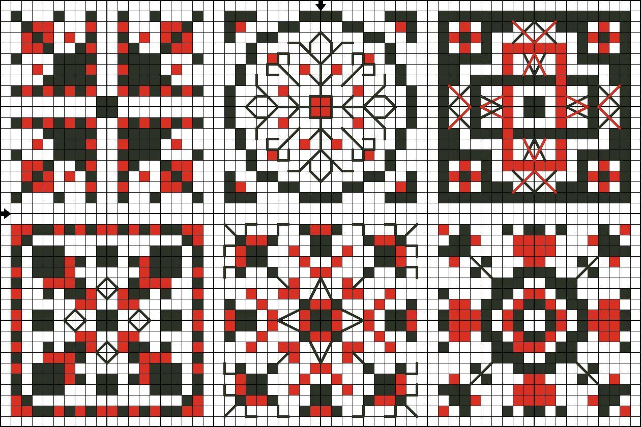картинки узоры квадратиками