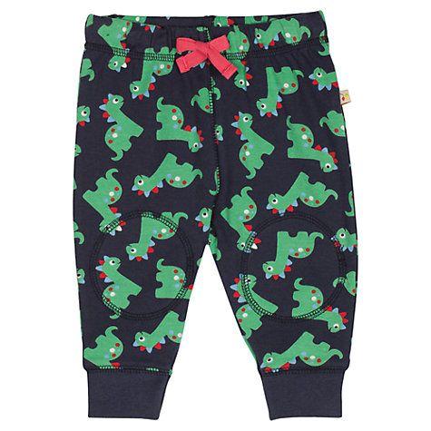 Buy Frugi Baby Knee Patch Dinosaur Crawlers, Multi Online at johnlewis.com