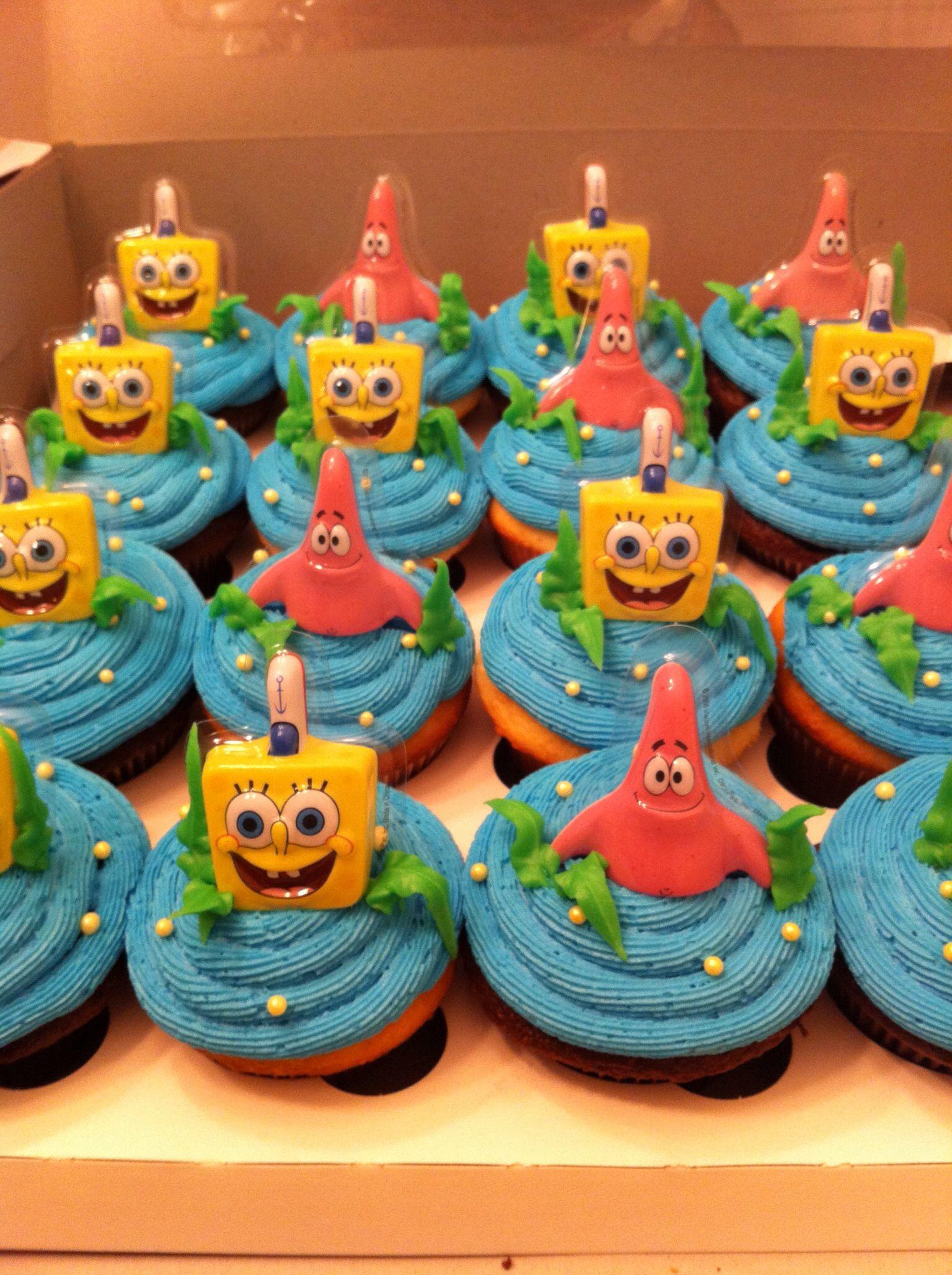 Sponge Bob Square Pants Birthday Cupcakes Cupcakes By