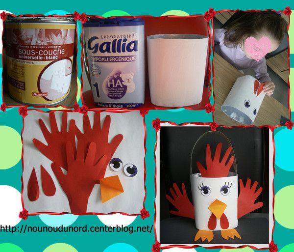 Panier de paques p ques pinterest paniers de p ques p ques et panier - Comment faire une poule en papier ...