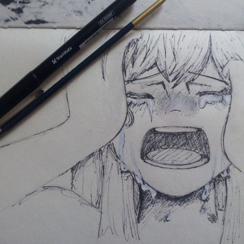 Sad Depressed Drawings Trying out emotions…...