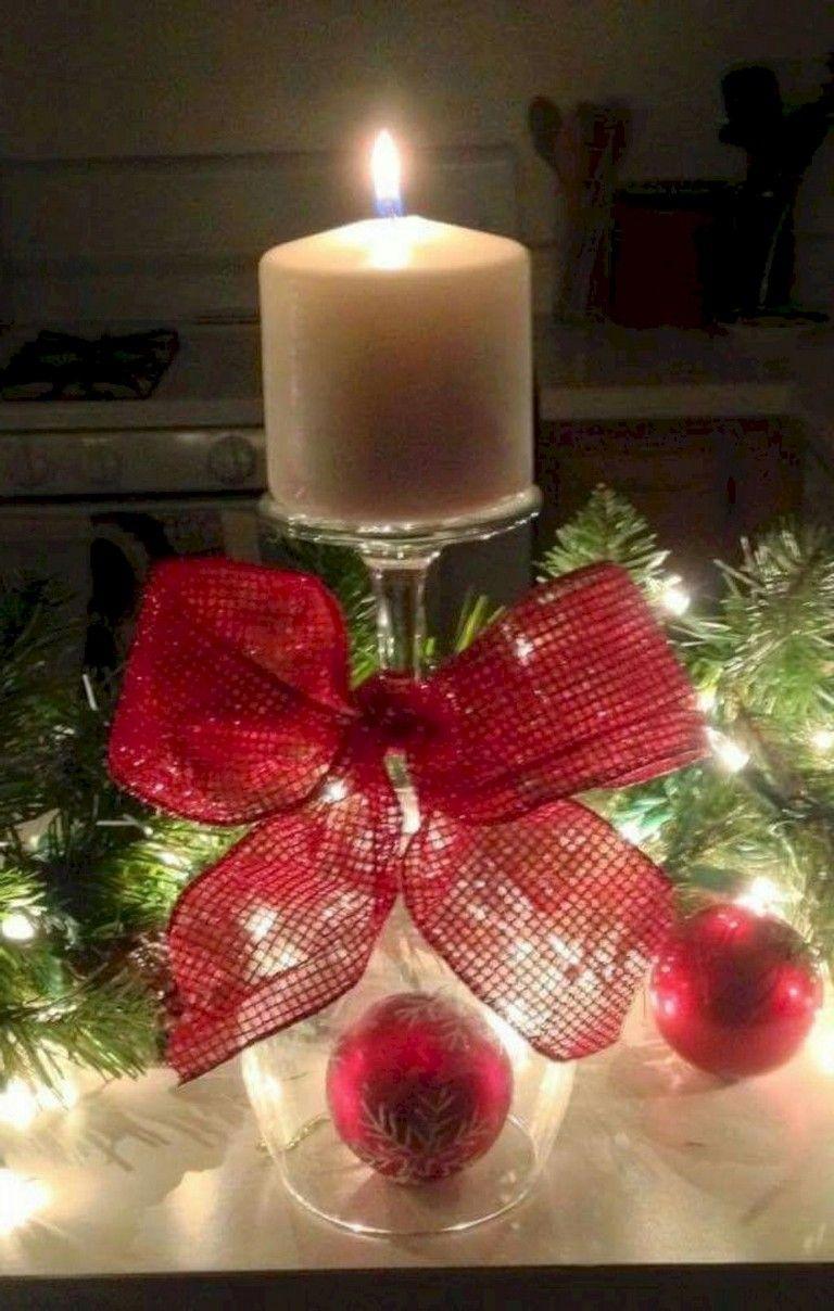 35 Smart Cute Christmas Candle Decor Ideas Christmascandles Candledecor Candledecorationsideashomem Christmas Candle Xmas Decorations Christmas Decorations