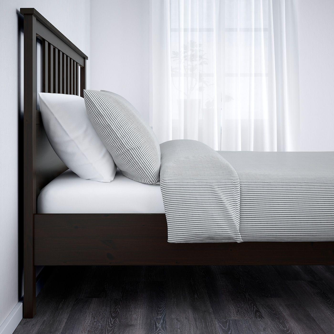Hemnes Bettgestell Schwarzbraun Lonset In 2020 Ikea Hemnes Bett Verstellbare Betten Und Bettgestell