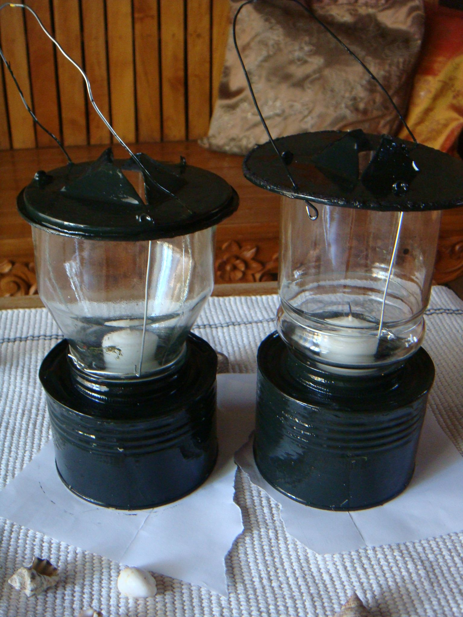 Diy Candle Lanterns From Jars And Cans Diy Pinterest Diy