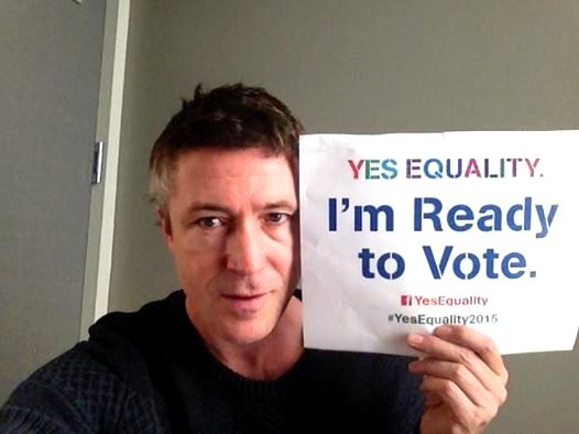 Yes Equality. Aidan Gillen is ready to vote for equal marriage.