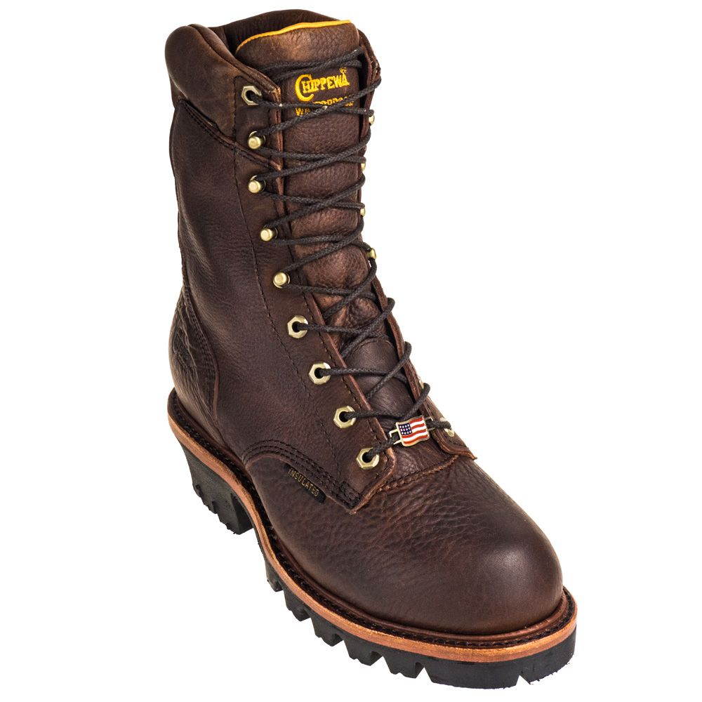 392ff4c432f Chippewa Boots Men's Waterproof 25411 USA-Made 9 Inch Leather Logger ...