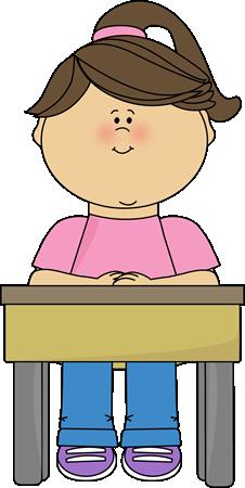 girl sitting at school desk school class okul s n f pinterest rh pinterest com student at desk clipart black and white student school desk clipart