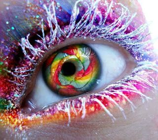 The eye that sees the emotion behind the bold colours.