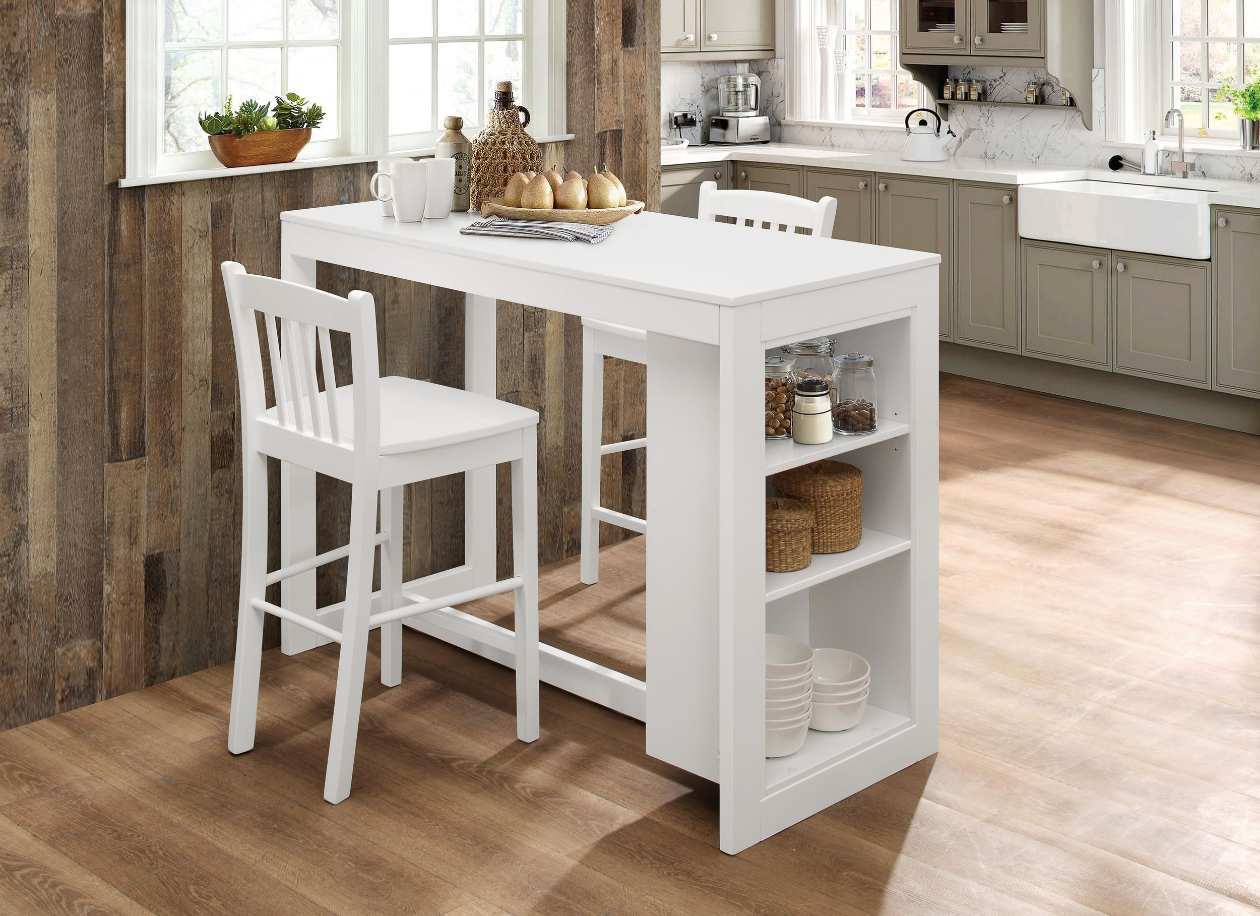 jofran tribeca classic white counter height dining table