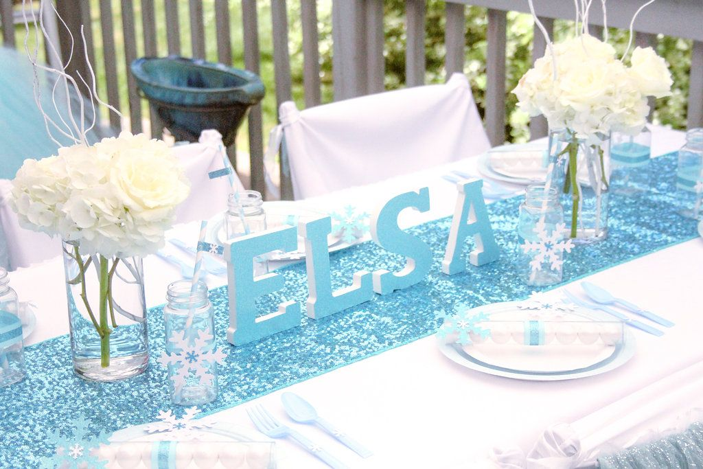 sweetly chic events design frozen party kids table amara bday