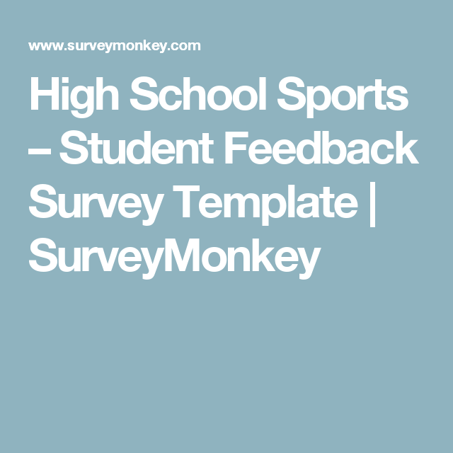 High School Sports Survey Questions Template High School