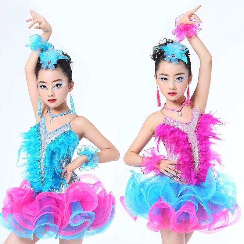 dc800f51d118 Find More Latin Information about Children Professional Latin Dance Dress  for Girls Ballroom Dance Competition Dresses kids Modern Waltz/tango / Cha  Cha ...