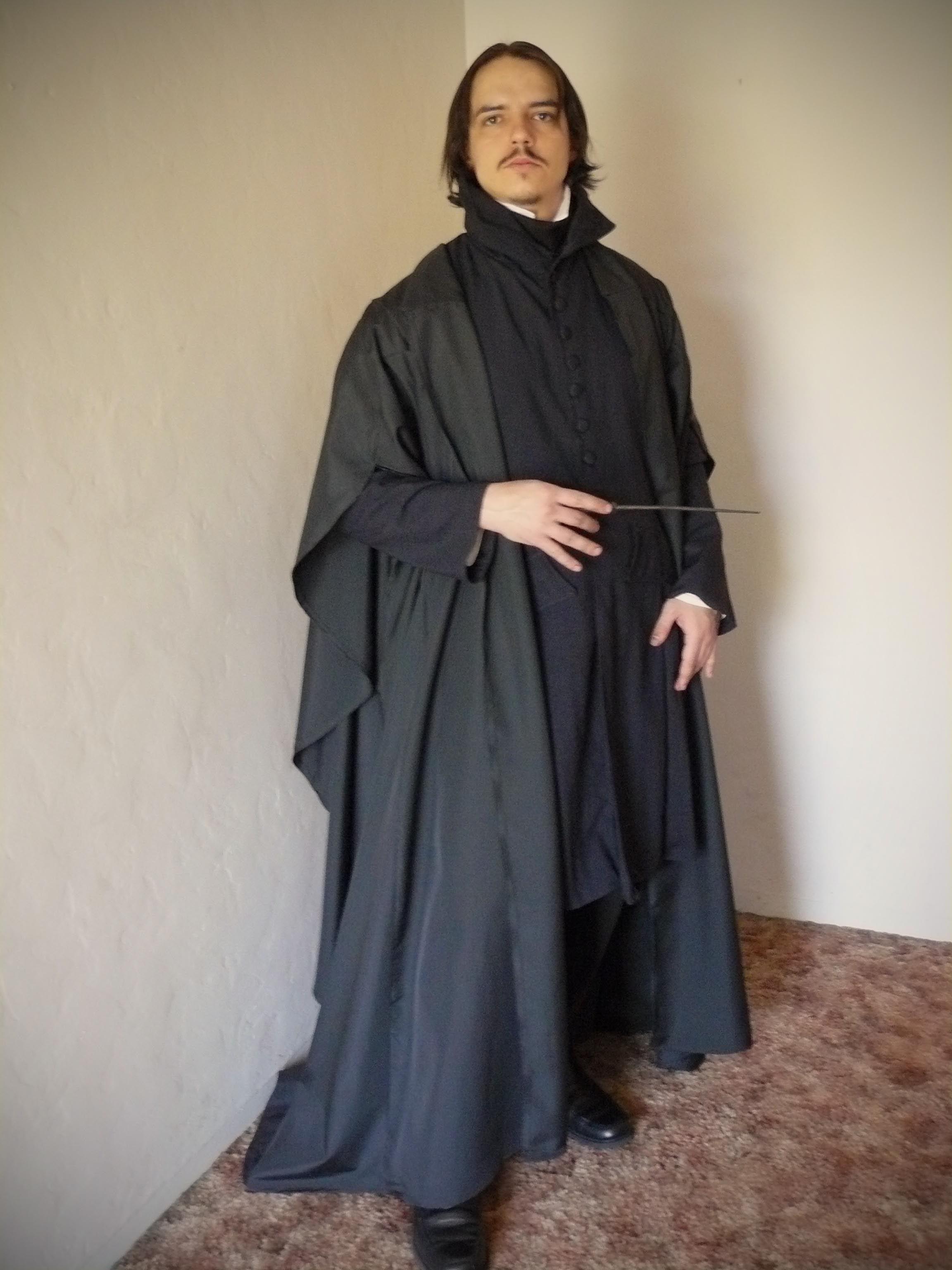 Hot!Harry Potter Slytherin Severus Snape Robe Dress Cosplay Costume
