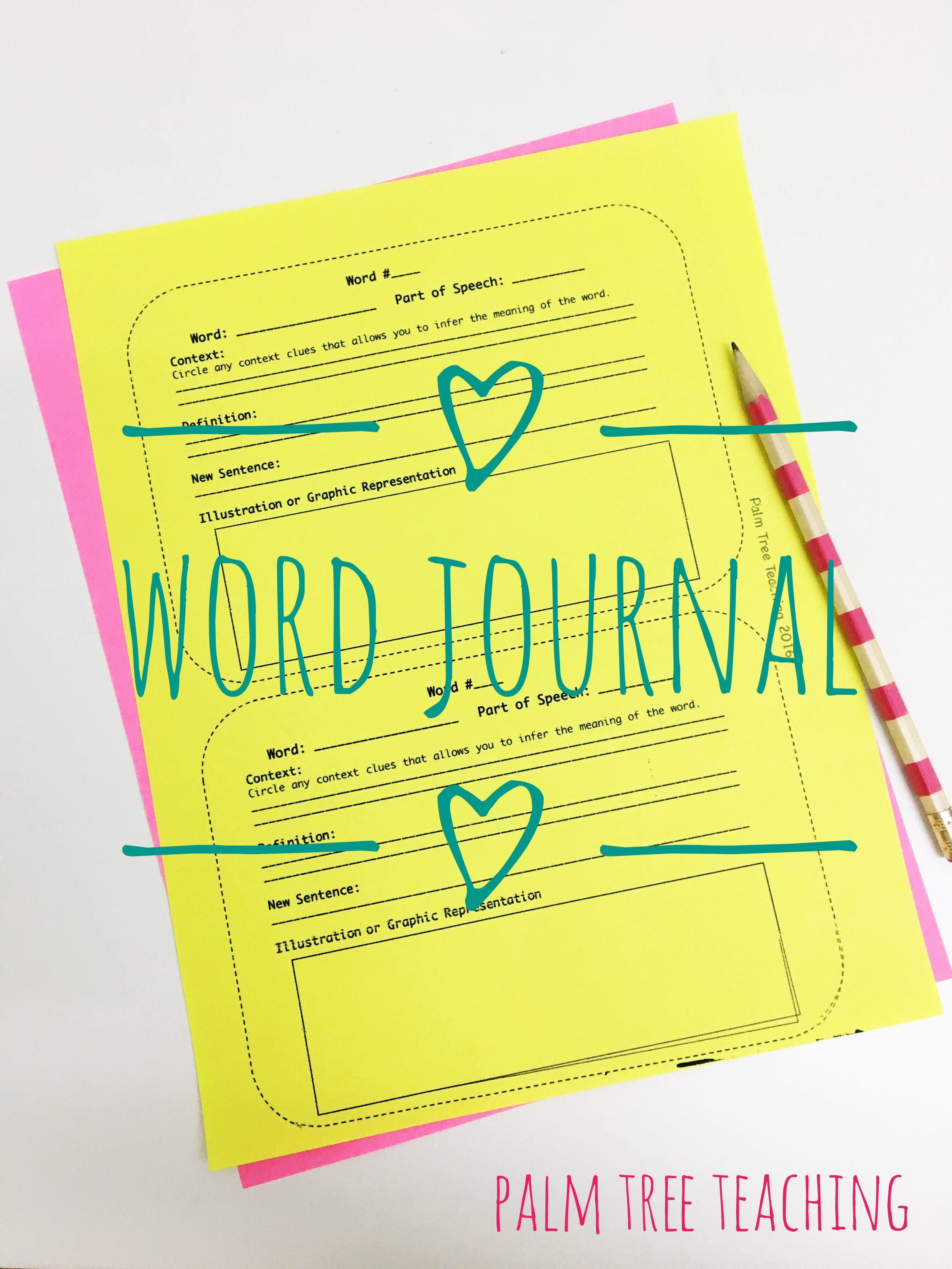 Freebie Print This Word Journal Template And Allow Your Students